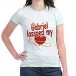 Gabriel Lassoed My Heart Jr. Ringer T-Shirt