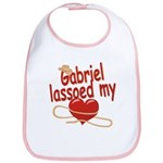 Gabriel Lassoed My Heart Bib