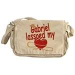 Gabriel Lassoed My Heart Messenger Bag
