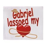 Gabriel Lassoed My Heart Throw Blanket
