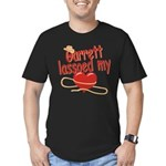 Garrett Lassoed My Heart Men's Fitted T-Shirt (dar
