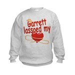 Garrett Lassoed My Heart Kids Sweatshirt
