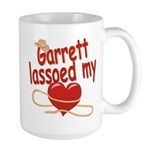 Garrett Lassoed My Heart Large Mug