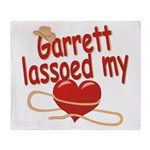 Garrett Lassoed My Heart Throw Blanket