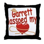 Garrett Lassoed My Heart Throw Pillow