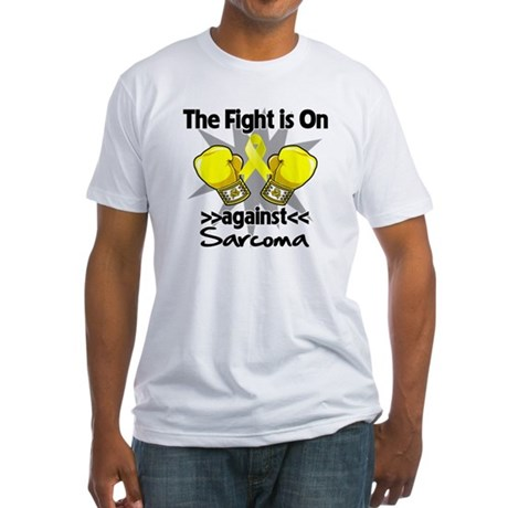 Fight is On Sarcoma Fitted T-Shirt