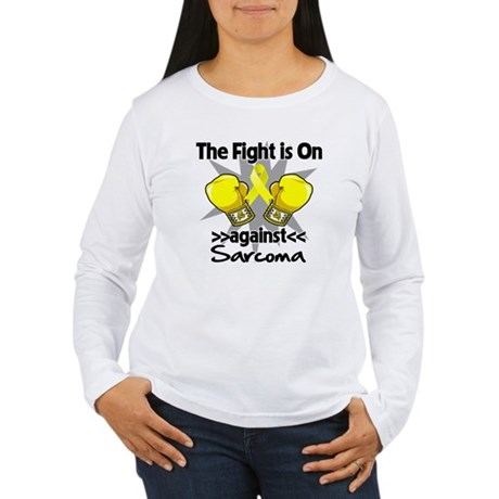 Fight is On Sarcoma Women's Long Sleeve T-Shirt