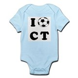 Connecticut soccer Infant Creeper