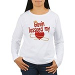 Gavin Lassoed My Heart Women's Long Sleeve T-Shirt