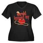 Gerald Lassoed My Heart Women's Plus Size V-Neck D