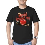 Gerald Lassoed My Heart Men's Fitted T-Shirt (dark