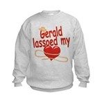 Gerald Lassoed My Heart Kids Sweatshirt