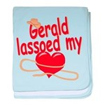 Gerald Lassoed My Heart baby blanket