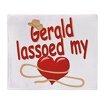 Gerald Lassoed My Heart Throw Blanket