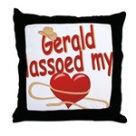 Gerald Lassoed My Heart Throw Pillow