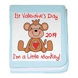 Little Monkey 2013 1st Valentine's Day baby blanke