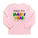 Baby 1st Mardi Gras Long Sleeve Infant T-Shirt