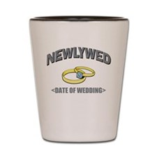 Newlywed (Add Date of Wedding) Shot Glass