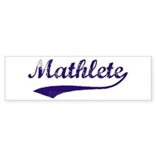 Vintage Mathlete 6 Bumper Car Sticker