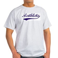 Vintage Mathlete 6  Ash Grey T-Shirt