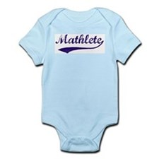 Vintage Mathlete 6  Infant Creeper