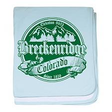 Breckenridge Old Green baby blanket