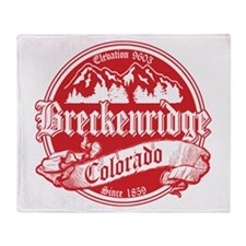 Breckenridge Old Red Throw Blanket