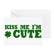 Kiss Me I'm Cute Greeting Cards (Pk of 20)