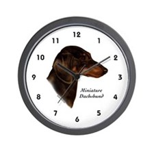 Miniature Dachshund (choc/tan) Wall Clock