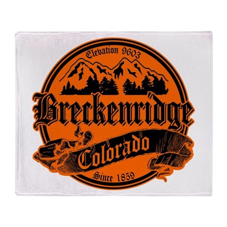 Breckenridge Old Black & Orange Throw Blanket