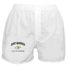Just Married (Add Date of Wedding) Boxer Shorts