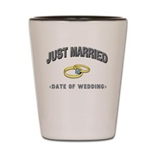 Just Married (Add Date of Wedding) Shot Glass