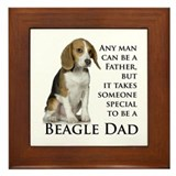 Beagle Dad Framed Tile