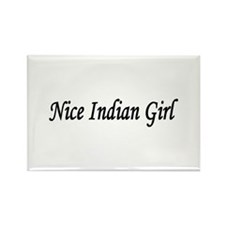 """Nice Indian Girl"" Rectangle Magnet (100 pack)"
