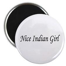 """Nice Indian Girl"" Magnet"