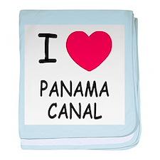 I heart panama canal baby blanket