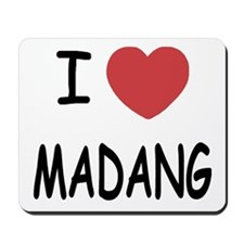 I heart madang Mousepad
