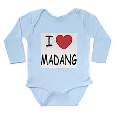 I heart madang Long Sleeve Infant Bodysuit