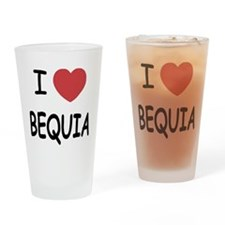 I heart bequia Drinking Glass