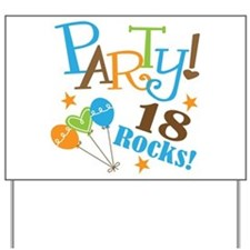 18 Rocks 18th Birthday Yard Sign