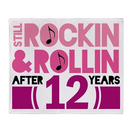 12th Anniversary Funny Gift Throw Blanket