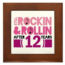 12th Anniversary Funny Gift Framed Tile