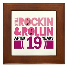 19th Anniversary Funny Gift Framed Tile