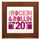 20th Anniversary Funny Gift Framed Tile