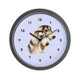 Saluki Wall Clock (periwinkle blue)