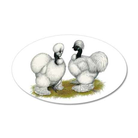 Showgirl Bantams 22x14 Oval Wall Peel