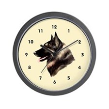 Belgian Shepherd Tervuren Wall Clock (cream)