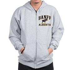 Banff Moose Zip Hoodie