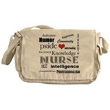 Proud Nurse Attributes+Red Heart Messenger Bag