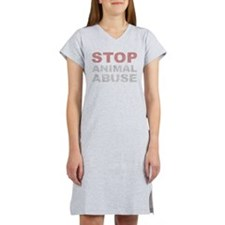 Stop Animal Abuse Women's Nightshirt